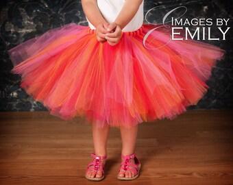 Child Tutu Design Your OWN Tutu Size 5/6 7or 8 Red Orange Blue Green Black White Purple Pink Yellow Brown