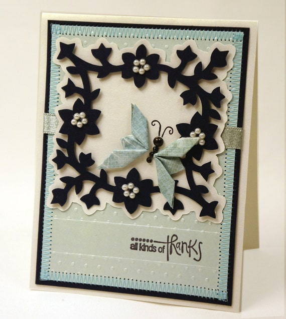 All Kinds of Thanks Butterfly Card