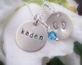 Infant Child Loss Mothers Remembrance Necklace TINY FOOTPRINTS