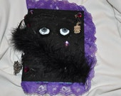 Handmade Journal Diary Notebook with gray eyes free shipping GREAT GIFT