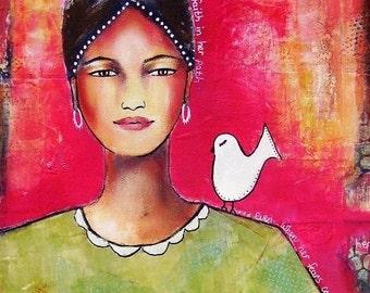 Faith in her Path-8 x 10 Fine Art Matted Print