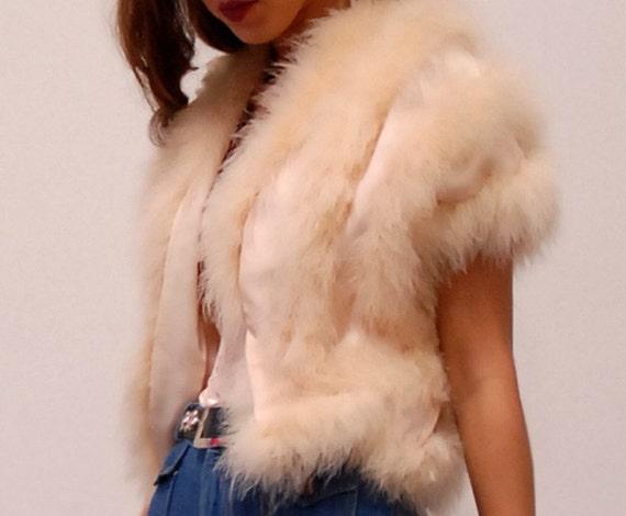 Vintage Marabou Feather 60s Top or Vest