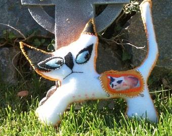 Custom Ghost Kitty Memorial Doll