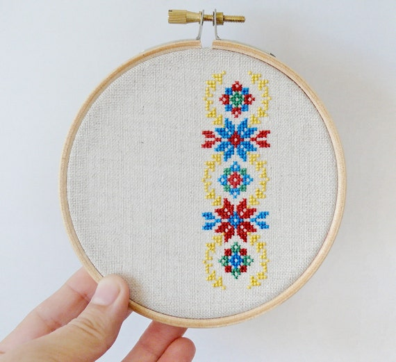 Items Similar To Ukrainian Ornament Hand Embroidery Cross