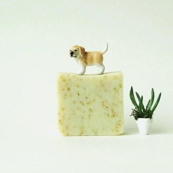 Pink Grapefruit Oatmeal Soap - Vegan Organic Cold Process Soap - Handmade Soap - Bar Soap