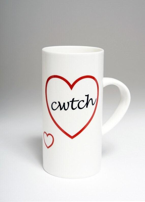 Welsh Cwtch bone china mug from ceramics for everyone