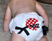 Game Day Football Bloomers - You choose colors - Red and Black