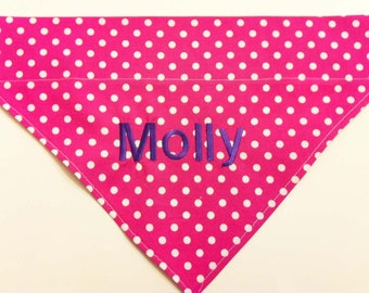 Monogrammed Dog Bandana - Pink & Purple