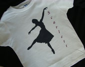 Ballerina - personalized- you pick name - child's tee shirt - super cute