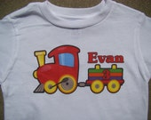 Train Birthday tee shirt - Personalized - You pick name and number - super cute