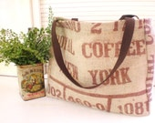 Burlap tote from RECYCLED Coffee Bean sack