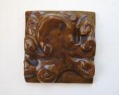 "4"" Octopus Tile - ""Roctopus"" the Octopus Nautical Sea Creature Beach Home Decor Wall Hanging Art"