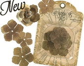 NEW 2011 Graphic 45 Metal Flowers GORGEOUS