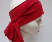Sash Workout Stretchy Hair Sash Cotton Red Head Sash Exercise Scarf