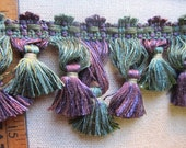 Scalloped Tassel Fringe purple and green