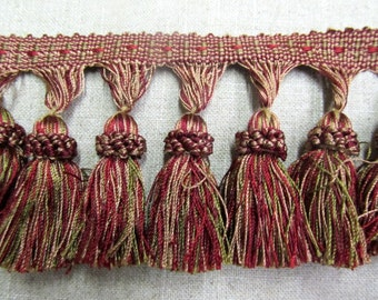 Tassel Fringe 3 inch in red gree and gold