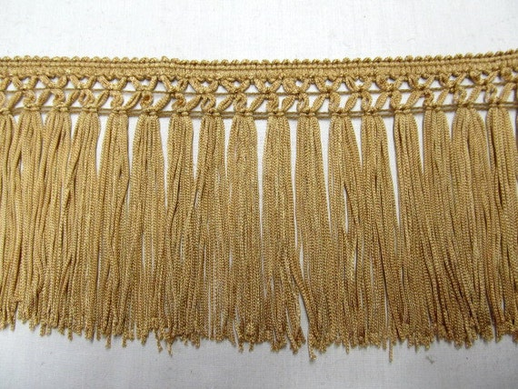 Gold chainette fringe 5 inch