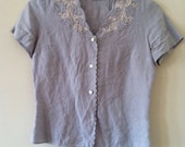 Linen and Lace Blouse