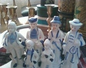 LeCroy 'Colonial' figurines-porcelain, set of 4 large and 2 small