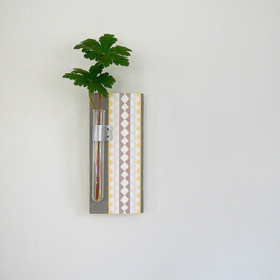 Vase l flower vase l wall vase l home decor test by for Test tube flower vase rack