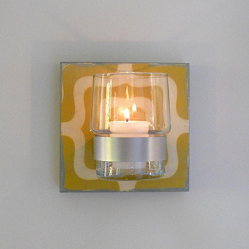 wall flower vase or candle holder labyrinth by redtilestudio. Black Bedroom Furniture Sets. Home Design Ideas