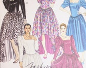 Vintage Gown or Dress Sewing Pattern McCalls 5714 Size A 6 8 10