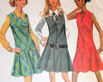 Vintage 1960s Dress Jumper Blouse McCalls Sewing Pattern 2112 Easy