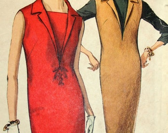 Vintage Sheath Dress or Jumper Sewing Pattern Simplicity 5535 Size 14 Bust 34