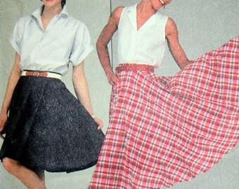 Vintage 80s Circular Skirt Sewing Pattern McCalls 8580 Size 14 Waist 28