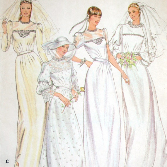 Vintage Bridal Gown Evening Dress Sewing Pattern Parsons School of Design Butterick 3699 Size 12