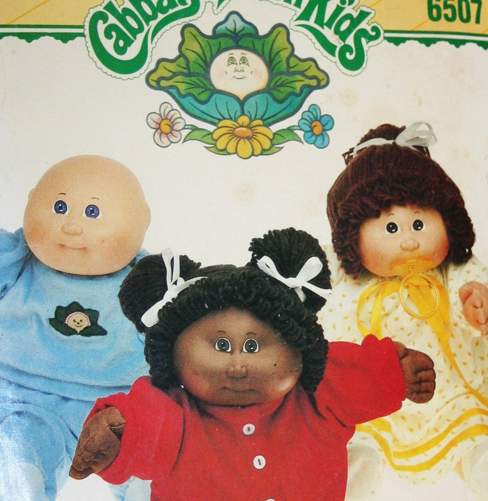 vintage cabbage patch clothes pattern butterick 6507 1984