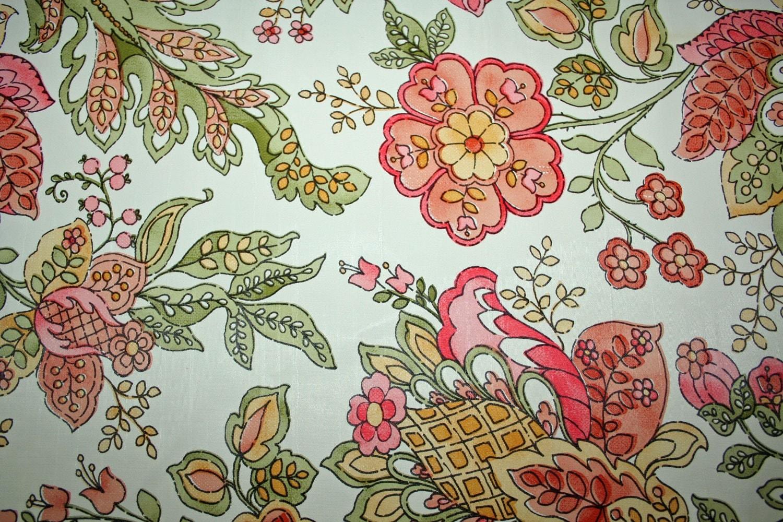 Vintage fantastic flower riot wallpaper art nouveau look great for Art nouveau wallpaper uk