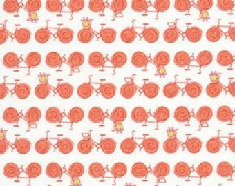 SALE One Yard - Weekends By Erin McMorris - Go By Bike in Red