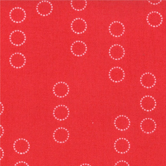 ONE Yard A Walk in the Woods by Aneela Hoey for Moda Circle Stripes in Poppy