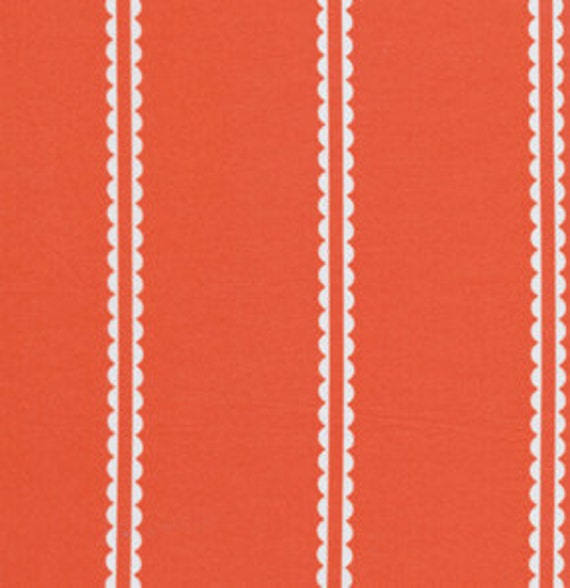 SALE One Yard Anna Maria Horner Little Folks Voile - Pastry Line in Coral