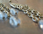 Silver and Pale Blue Chandelier Earrings