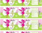 FAIRY Birthday Collection - 8 3/8 X 2 1/4 PRINTABLE Water Bottle Label - Chiqui's Design Studio