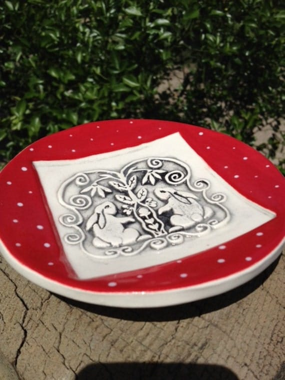 Little Plate with Rabbits