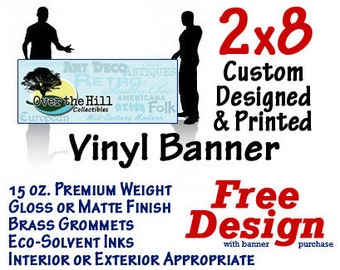 2x8 Custom Designed and Printed Vinyl Banner GREAT 4 CRAFT SHOWS