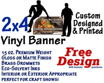 2x4 Custom Designed and Printed Vinyl Banner GREAT 4 CRAFT SHOWS