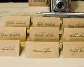Beautiful Rustic Place Cards - Hand Calligraphy