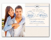 Save The Date Classy Modern Lovebirds Card or Magnet