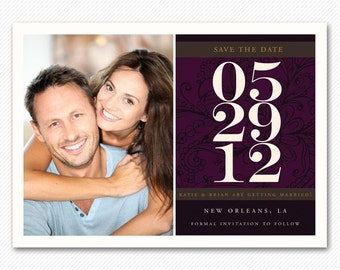 Modern Save The Date Magnet or Card - Bold Modern
