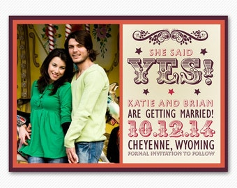 Save The Date Modern Western Card or Magnet