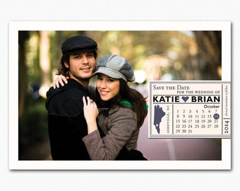 Save The Dates, Save The Date Postcard, Save The Date Magnet, Save The Date Card - Modern Calendar