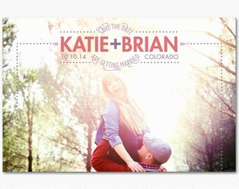 Save The Date Card or Magnet Bright Light
