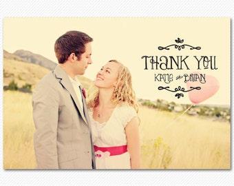 Rustic Wedding Thank You Cards - Sunnyside