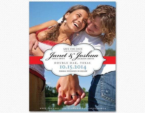Save The Date Simple Modern Elegant Card or Magnet