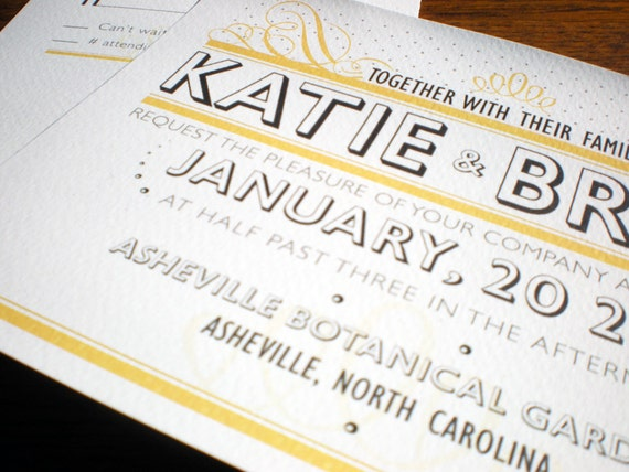 Wedding Invitations - The Vintage Bold Suite, Purchase this deposit to get started