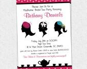 Madhatter Mad Hatter Tea Party Invitation Printable, Fascinator, Hats, Royalty, Bridal Shower, Baby Shower, Birthday  DIY Digital File